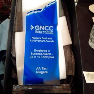 Excellence in Business: Up to 10 Employees AA Limo Niagara